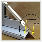 Windows Materials Wood Aluminum Clad Corner