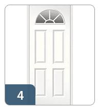 Half Round 4 Panel Door Style